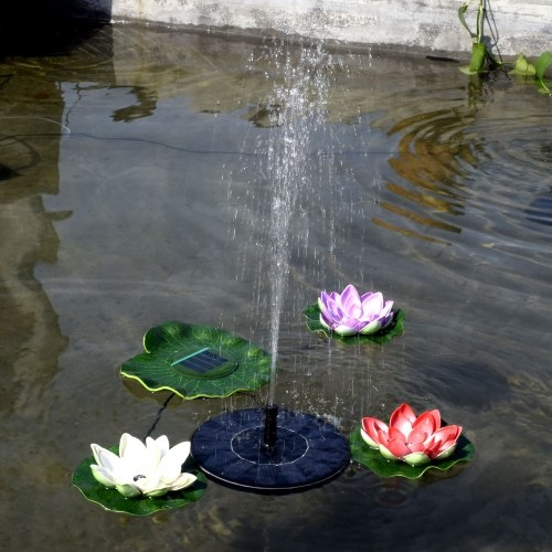 Solar Water Panel Power Fountain Pump Kit Garden Pond Watering for Bird Bath