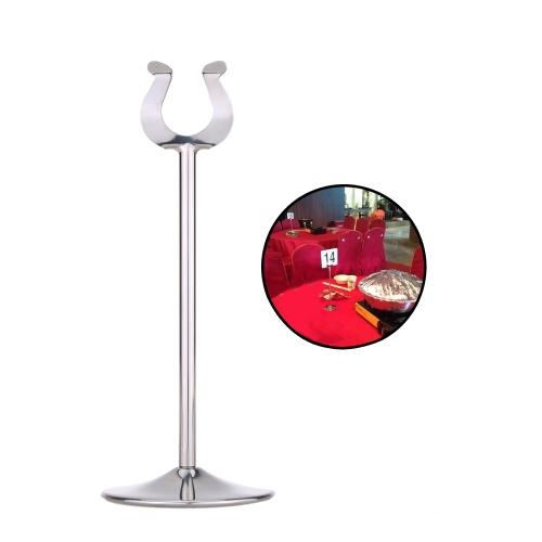 """8 """"Stół ze stali nierdzewnej U Ukształtowany numer stołu Numer podstawy uchwytu karty dla restauracji weselnej"""