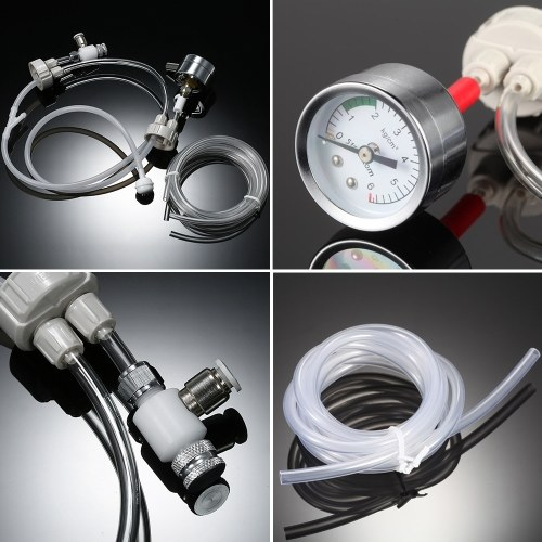 DIY CO2 Generator System Kit with Pressure Guage Air Flow Adjustment Vavle Water Plant Aquarium Accessory Necessity