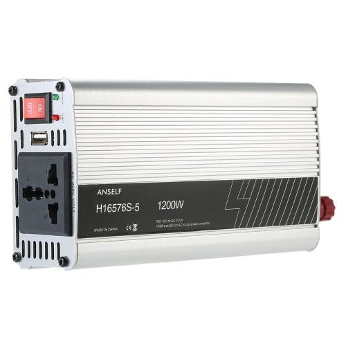 1200W DC12V до AC220-240V AC Преобразователь инвертора солнечной энергии переменного тока Модифицированная форма волны синуса