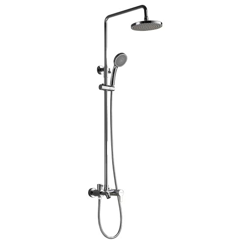 Homgeek High-quality Stainless Steel Top Hand-Held Shower Panel Mixer Head Set Wall-mounted Water-saving Home Bathroom Sprayer Chrome Finish Hotel