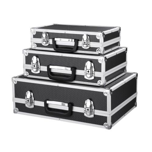 iKayaa 3PCS Tragbares Mehrzweckwerkzeugkasten harter Aluminiumrahmen Tragetasche Arretierwerkzeug Aufbewahrungskoffer mit Handgriff Groß / Mittel / Klein Größe