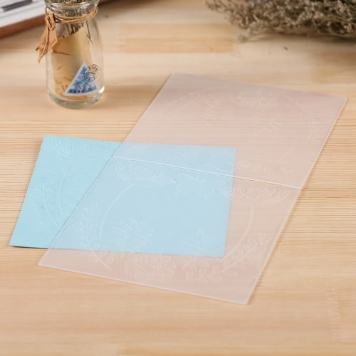Plastic Gauffrage pour Scrapbook DIY album Card Paper Outil Template 15.5x15.5cm / 6x6inch