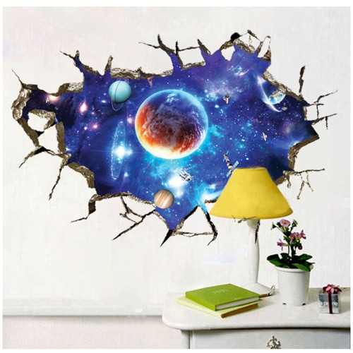 Decorative Self Adhesive Living Room Bedroom 3D Starry Sky Decal Removable Mural Wall Art Sticker Home Decor DIY