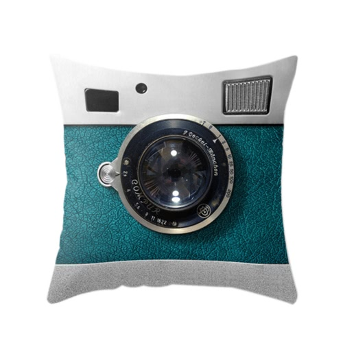 Урожай ретро Home 3D камеры Throw Подушка крышки случая протектора Декоративные кровать Талия диван автомобиля Подушка Декор подарок