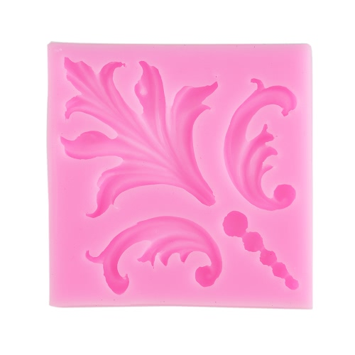 1Pcs 100% Food Grade Silicone Baking Candy Chocolate Mold Mould Retro Leaf Damask Bakeware Decorating Decoration DIY Mould Soap Die Random Color