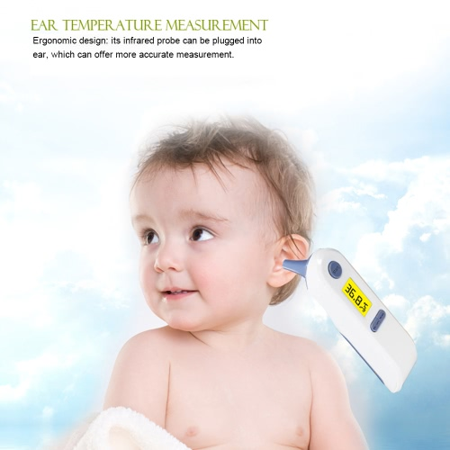 Portable Baby Adult Digital LCD Forehead Ear Infrared IR Thermometer Multi-Function with 1-second Readout Non-contact Temperature