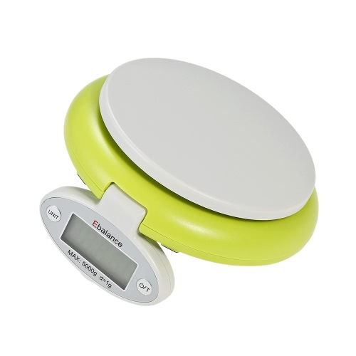 5000g/1g Mini Foldable Electronic Digital Kitchen Baking Scale Backlight Display Food Weighing Scales Tool for Home Travel