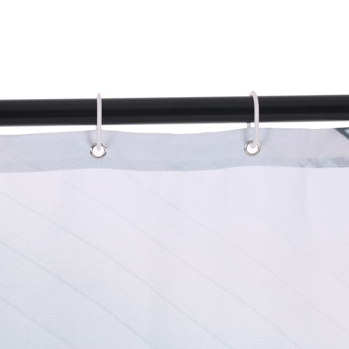 72 * 72 '' Gedruckt 3D Effekt Dekorative Bad Vorhang Polyester Wasserdichte Mildewproof Duschvorhang mit 12pcs Haken