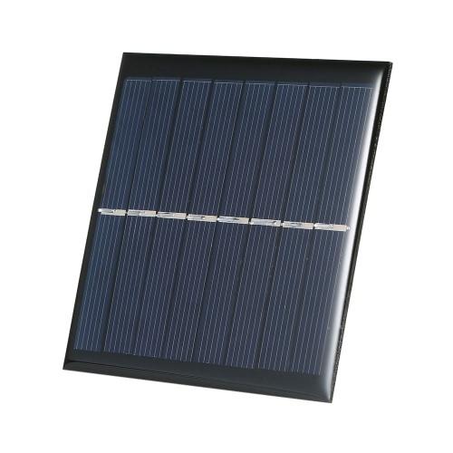1W 4V polikrystaliczny silikonowy panel słoneczny 90 * 90mm ładowarka do ładowania baterii słonecznej o pojemności 2 × AA 1.2V