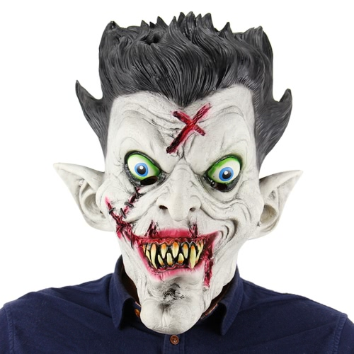 Latex Full Head Scary Zombie Mask Horror Masques fantômes toothy pour Halloween Masquerade Costume