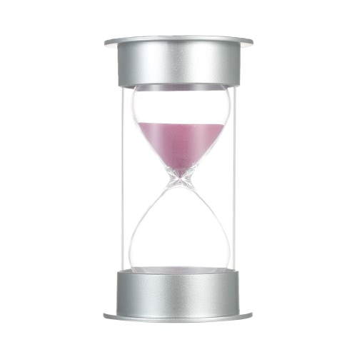 30 Minutes Hourglass Sandglass Sand Timer Decoration for Kitchen Office Game Timer Christmas Birthday Gift(30Min Pink)