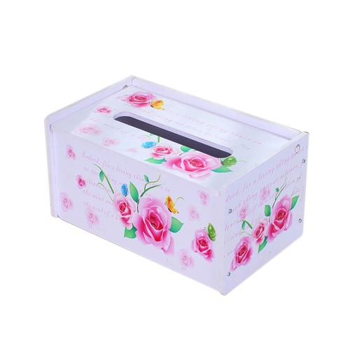 Creative DIY Household Item Special Order Tissue Box Water-resistant Paper Towel Box Rectangle Napkin Container