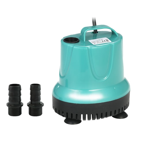 2000L / H 25W Pompe à eau submersible Mini fontaine pour Aquarium Fish Tank Pond Water Gardens Hydroponic Systems avec 2 buses AC110V