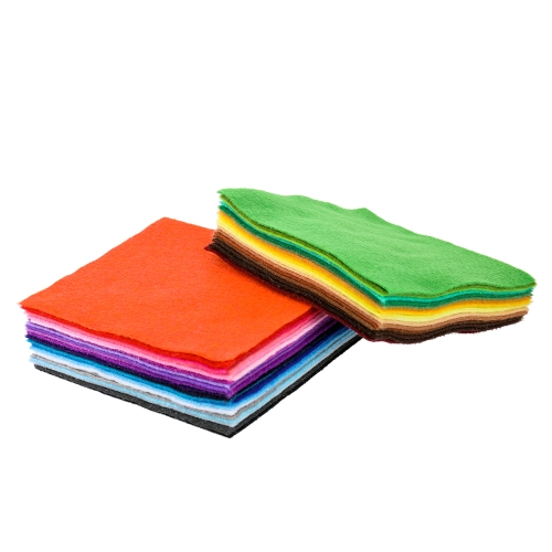 42 pcs Colors Felt Fabric Sheet Assorted Color DIY Craft Squares Nonwoven 1.4mm Thick