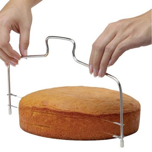 Brot Splitter doppel-linie Kuchen Slicer Scheibe Geschichteten Backen Werkzeuge Einstellbar Brotschneider Backen Zubehör Gadget Edelstahl