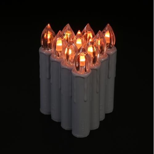 10pcs / set realistico 7 colori che cambiano le candele a distanza LED