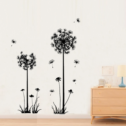 Wall Decal Livingroom Decoration Taraxacum Flower Sticker Bedroom Background Peel and Stick