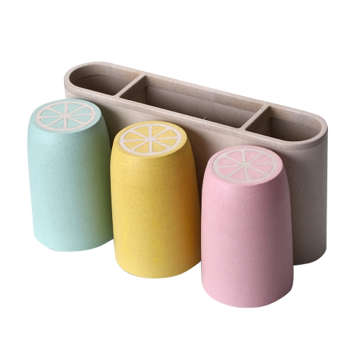 Household Bathroom Toothbrush Holder Set Washroom Toiletry Cup Rinsing Cup Good Quality Bathroom Accessories Gargle Suit Multi-functional Wall Rack