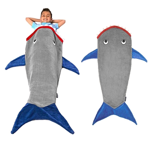 Children Fairy Tale Mermaid Blanket Funny Warm Comfortable Fish Tail Shark Sleeping Bag Sleep Sack