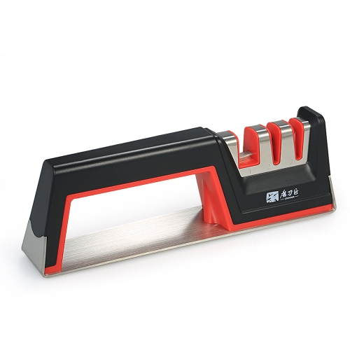 MEULEUSE Fine / grossière combinaison trois étapes aiguiseur de couteaux fine et grossière outil d'affûtage de couteaux