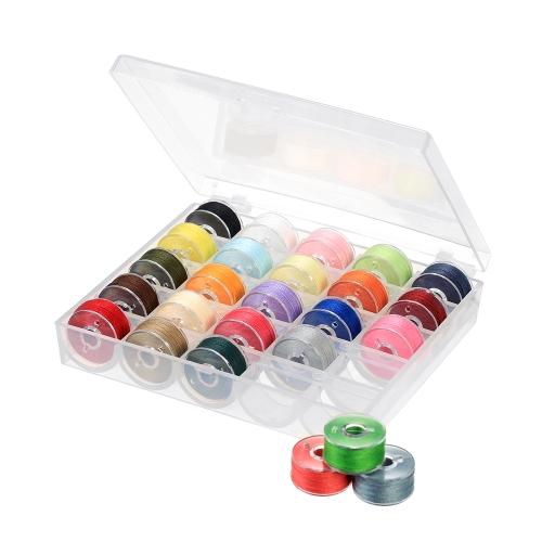 Grid Sortierte Farben Spulen mit Nähgarn Set Hand Nähmaschine Nähgarn mit Aufbewahrungskoffer für Brother Singer Janome