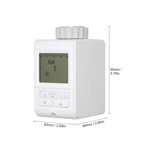 Programmable Timer TRV Thermostatic Radiator Valve Actuator Radiator Thermostat for Heater Radiator Room Temperature Controlling