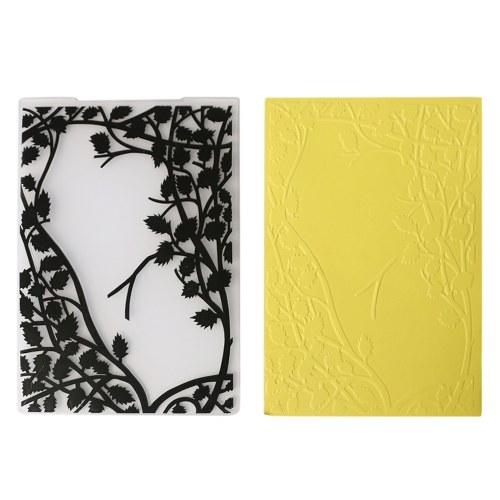 Шаблон Текстурированные впечатления Декоративная рамка для тиснения Папка для печенья Fondant Mold Card Craft Making Wedding Style Style 1