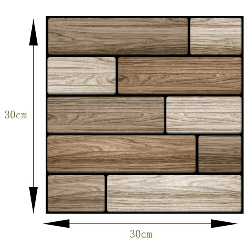 1pc 30*30cm Waterproof Wall Covering 3D DIY Wallpapers