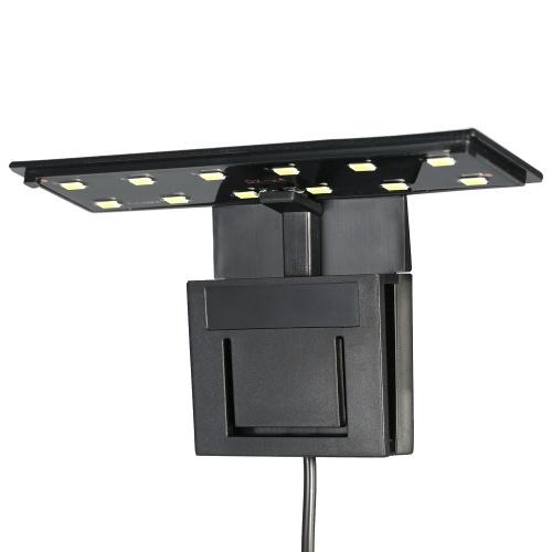5W Ultra-thin Aquarium LED Light Ultra Bright Clip-on Lighting Lamp 12 LEDs for Aquarium Fish Tank