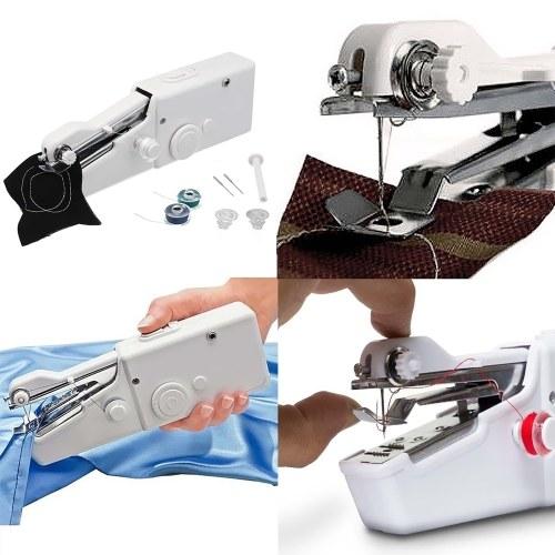 Mini Handheld Sewing Machine Portable Needlework Cordless Household