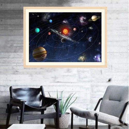 12 * 16 inches/30 * 40cm DIY Full 5D Diamond Painting Kit Outer Space Universe Resin Rhinestone Mosaic Embroidery Cross Stitch Craft Home Wall Decor