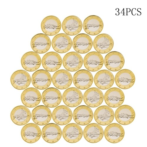 TOMTOP / 34pcs Novelty Sex Coin Germany Medals Gold Lover's Gift