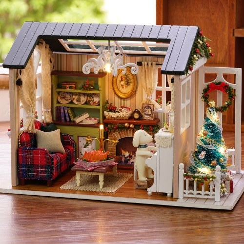 DIY Christmas Miniature Dollhouse Kit
