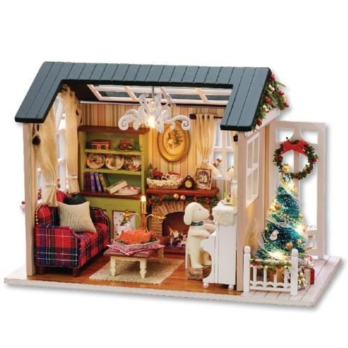 Kit de maison de poupée miniature de Noël bricolage