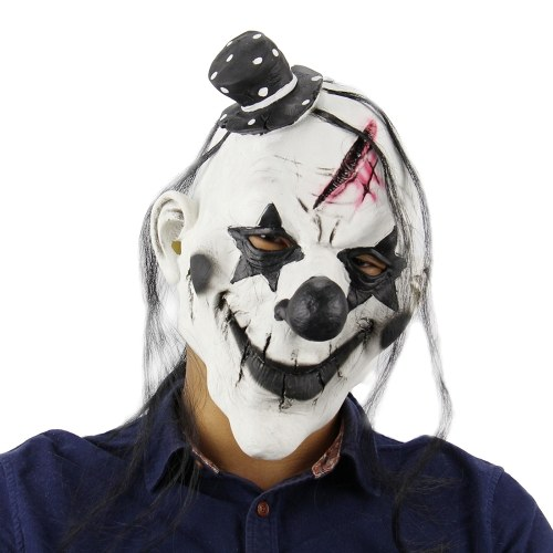 Latex Full Head Creepy Clown Mask Horror Scary Cosplay Maska