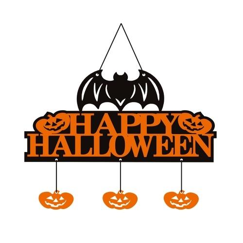 Happy Halloween nietoperzy Banner Bat Dynia Elements Wall Door Wiszące wieszak znak