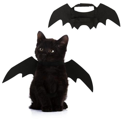 Asas de morcego-preto de gato de estimação