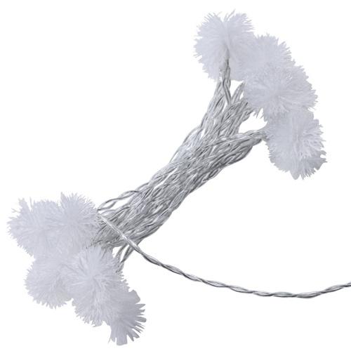 LED Schnee Pompon Fee Weihnachtsfeier Hochzeit Garten Dekoration DIY String Licht