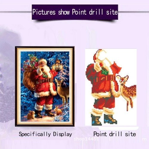 Needlework DIY 5D Embroidery Christmas Santa Claus Full Rhinestone Cross Stitch Diamond Painting Kit