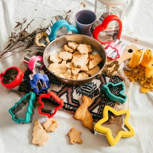 Juego de cortadores de galletas de 12 piezas, varias formas, cortadores de galletas de acero inoxidable 430 para hornear