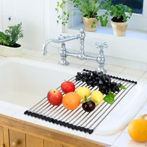 Multipurpose Roll-Up Sink Drying Rack