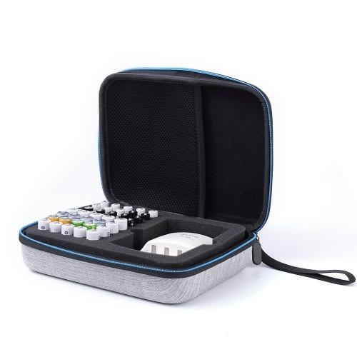 Caixa de armazenamento da bateria possui 40 pilhas AA AAA com bolso de malha para carregadores