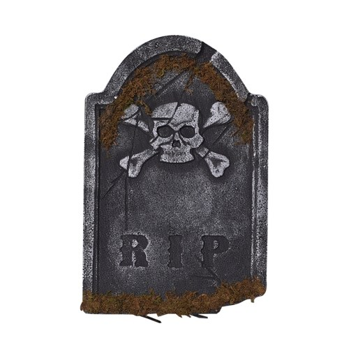 Halloween Foam Tombstone Reusable Haunted House Yard Decoration Realistic Graveyard Props