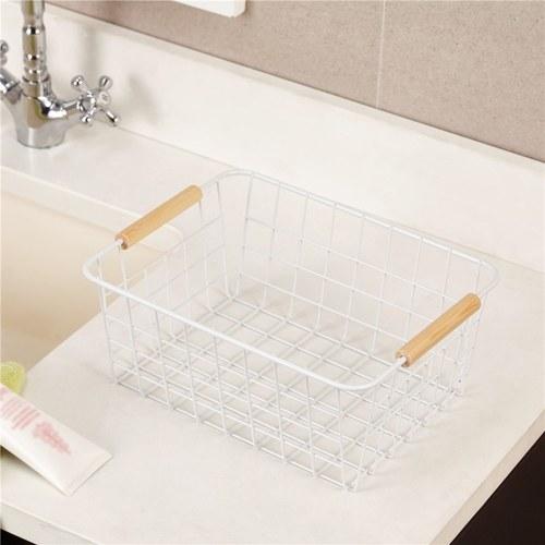 Household Metal Wire Basket Bin Storage Organizer