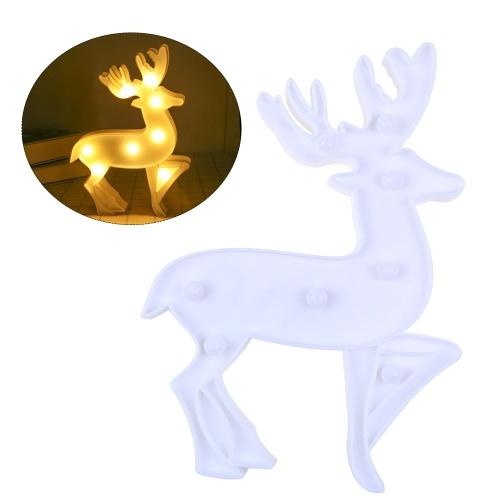 Lámpara de hadas con luces LED de cadena de renos