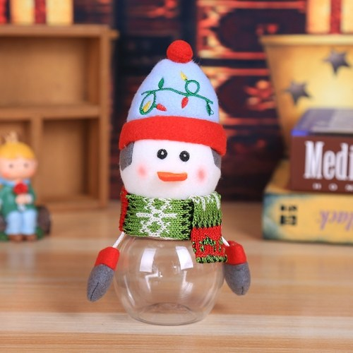 Portable Lovely Christmas Penguin Candy Jar Lastics Transparent Gift Box Christmas Supplies Children's Gifts Decoration