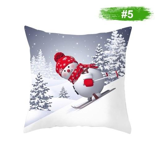 クリスマス雪だるま枕カバー家の装飾ソファクッションカバー450 * 450 mm
