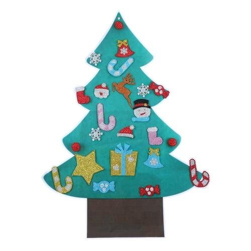 Рождественская наклейка Windows Стикер стены DIY Украшение дома Рождественская елка для рождественских украшений