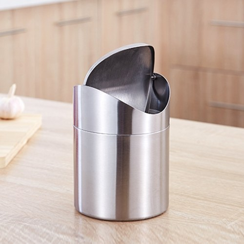 Creative Mini Waste Trash Bin Stainless Steel Trash